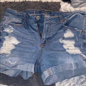 aeropostale high waisted ripped shorts